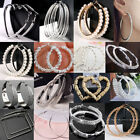 Kyпить Fashion Big Hoop Earrings Silver/Gold Women Lady Large Hoops Earrings Jewelry на еВаy.соm