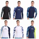 Men's Rash Guard Long Sleeve Swimwear UPF50+ UV Protection D