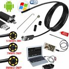 1-10mm Android Phone IP67 Snake Inspection USB Endoscope Wifi Tube LED Camera EM