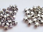 50 Tibetan Silver Small 4mm/6mm Heart / Star Beads Spacer- Jewellery Making