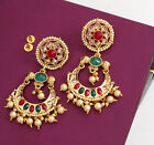 Beautiful Indian Bollywood Style Antique Gold Plated Jhumka Jhumki Earring Set