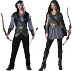 Couples Hooded Huntsman and Huntress Adult Costume Medieval Disguise Halloween