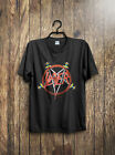 T Shirt Vintage Reprint Slayer Reign In Blood Tour concert tee 1980s Tom Araya image