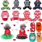 Pet Dog Winter Clothes Pajamas Jumpsuit Warm Christmas Cosplay Clothes Apparels