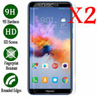 2x Tempered Glass Screen Protector Film Cover For Huawei Honor 6x 7 8 9 10