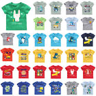 Baby Kids Boys Girls T-shirt Cartoon Short Sleeve Summer Casual Cotton Tee Tops