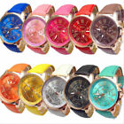 Fashion Womens Ladies Watches Geneva Faux Leather Analog Quartz Wrist Watch New image