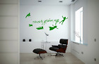 Peter Pan Never Grow Up Never Never Land Quote Cool Home Wall Decal Sticker Nq38