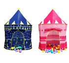 Girls Princess Castle Folding Playhouse Children Kids Boys Play Tent Outdoor Toy