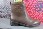 Tory Burch Simone Bootie Ankle Boots Chocolate Brown Buffalo Leather NIB