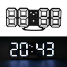 Large Multifunction Modern 3D Digital LED Wall Clock 12/24 Hour Display Alarm