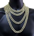 Hip Hop Men Quavo Gold Iced Out 15mm 16''-30'' Miami Cuban Choker Chain Necklace