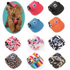 Pets Dogs Hat Baseball Cap Windproof Travel Sports Sun Hats For Puppy Large Dogs