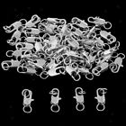 50 pcs Alloy Lobster Clasp with Two Part Clip Loop Keyring Keychain Findings