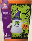 5Ft Gemmy Airblown White Ghost With Witch Hat Lighted Halloween Inflatable Prop