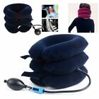 Cervical Air Inflatable Collar Neck Relief Pillow Brace Support Stretcher Device