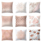 "18"" Rose Gold Pink Throw Pillow Case Cushion Cover Pillowcase Home Sofa Decor"