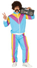 Mens 90s 1980s Shell Suit Retro Tracksuit Stag Do Fancy Dress Costume Outfit M L