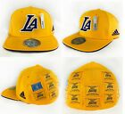 NBA Los Angeles Lakers Flat Brim Fitted Adidas 16X Champions Cap Hat Adult