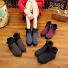 Women Waterproof Non-slip Thick Fleece Lined Snow Boots Winter Warm Cotton Shoes