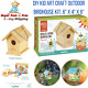 Kids Art Craft Build Decorate Hang Wooden Bird Bungalo House With Paint Diy Kit photo