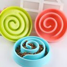 Pets Dog Spiral Type Solid Plastic Slow Bowl Puppy Healthy Diet Feed Dish Feeder