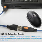 3Ft 6Ft 10FT 15Ft 30Ft Black USB 2.0 A Male M To A Female For Extension Cable