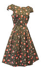 """New Rosa Rosa """"Green Pink Ditsy Floral WWII 1930's/40's Vtg Land Girl Tea Dress"""