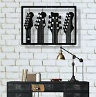 Metal Wall Art Work Guitars 3D Wall Silhouette Metal Wall Decor Home Decoration
