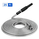 255075100ft-Stainless-Steel-Flexible-Metal-Garden-Water-Hose-PipeNozzle-Kit