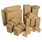 Kraft Gift Boxes Multipurpose Boxes Cotton Filled Jewelry Boxes ~20~50~100~500pc