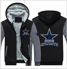 Dallas Cowboys Fan Mens Hoodie Fleece Coat winter Thicken Warm Jacket Sweatshirt