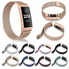 For Fitbit Charge 3 Replacement Magnetic Loop Strap Stainless Steel Wrist Band image