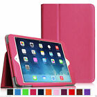 Leather Smart Case for Pad Mini Air 2 Pro 9.7 Back Cover Magnetic Rose Gold Pink