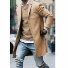 Fashion Men&#039;s Wool Coat Winter Trench Coat Outwear Overcoat Long Sleeve Jacket <br/> ❤ Best Quality Fast Shipping ❤ US STOCK ❤Easy Return