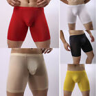 Mens Ice Silk Underwear Boxer Briefs Shorts Bulge Pouch Underpants Breathable
