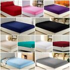 Fitted Sheet Bed Sheets Deep 100% Cotton Blend Single Double King S king 30cm