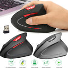 USB Wireless 2400DPI Ergonomic Vertical Gaming Mouse Optical Mice for PC Laptop