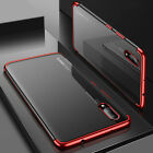 Stylish Shockproof Plating Case Tempered Glass For Huawei P20 Pro Mate 20 Lite