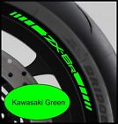 8 x Kawasaki ZX6R Wheel Rim Decals Stickers - 20 colors available - zx-6r 600 r