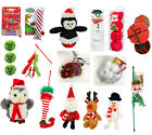CHRISTMAS CAT KITTEN TOY GIFT BOX CRACKER CANDY CANE BALL CATNIP TREAT RANGE