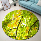 Ripe Apricot Tree Pattern Round Floor Mat Bedroom Carpet Living Room Area Rugs
