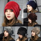Warm Womens Mens  Knitted Hats Winter Oversized Ski Slouch Hats Caps Baggy