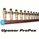 "1"" Copper Manifold 3/4"" Pex Uponor ProPEX (With & Without Ball Valve) 2-12 Loop*"