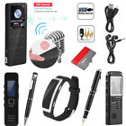 Rechargeable Digital Audio Sound Voice Recorder Dictaphone MP3 Player W/ Headset