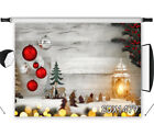 Wood Wall Xmas Ball Candle Vinyl Backdrop Photography Studio Props Background
