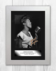 "Sarah Vaughan ""The Divine One"" A4 reproduction signed poster. Choice of frame."