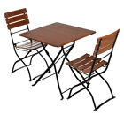 Beer Garden Bistro Square Table with 2 Chairs