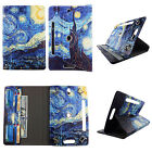 """TABLET CASE FOR 8 INCH 8"""" ROTATING FOLIO PU LEATHER CASE COVER CARD CASH SLOTS"""
