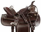Used Western Saddle Trail Parade Show Brown Leather Horse Tack Set 15 16 17